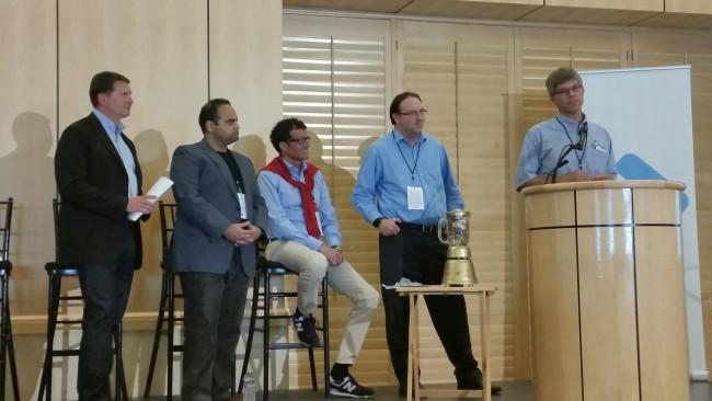 Justin Siegel (UC Davis) und Harold Schmidt(Mars) stellen ihre Kooperation vor (Foto I.Ziegler)
