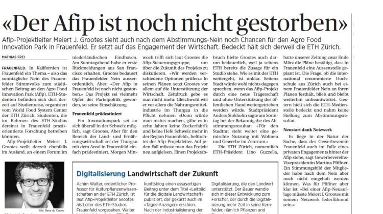 Thurgauer Zeitung vom 12.04.2016